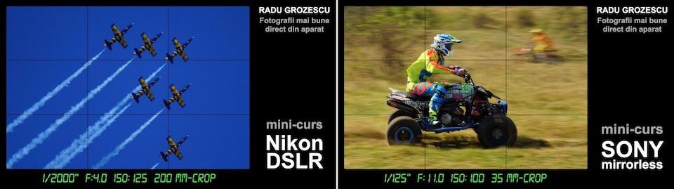 Cursuri foto la sala F64, Nikon și Sony