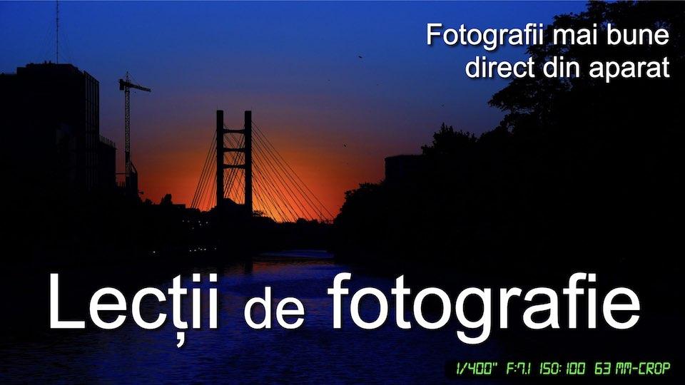 Lecții de fotografie