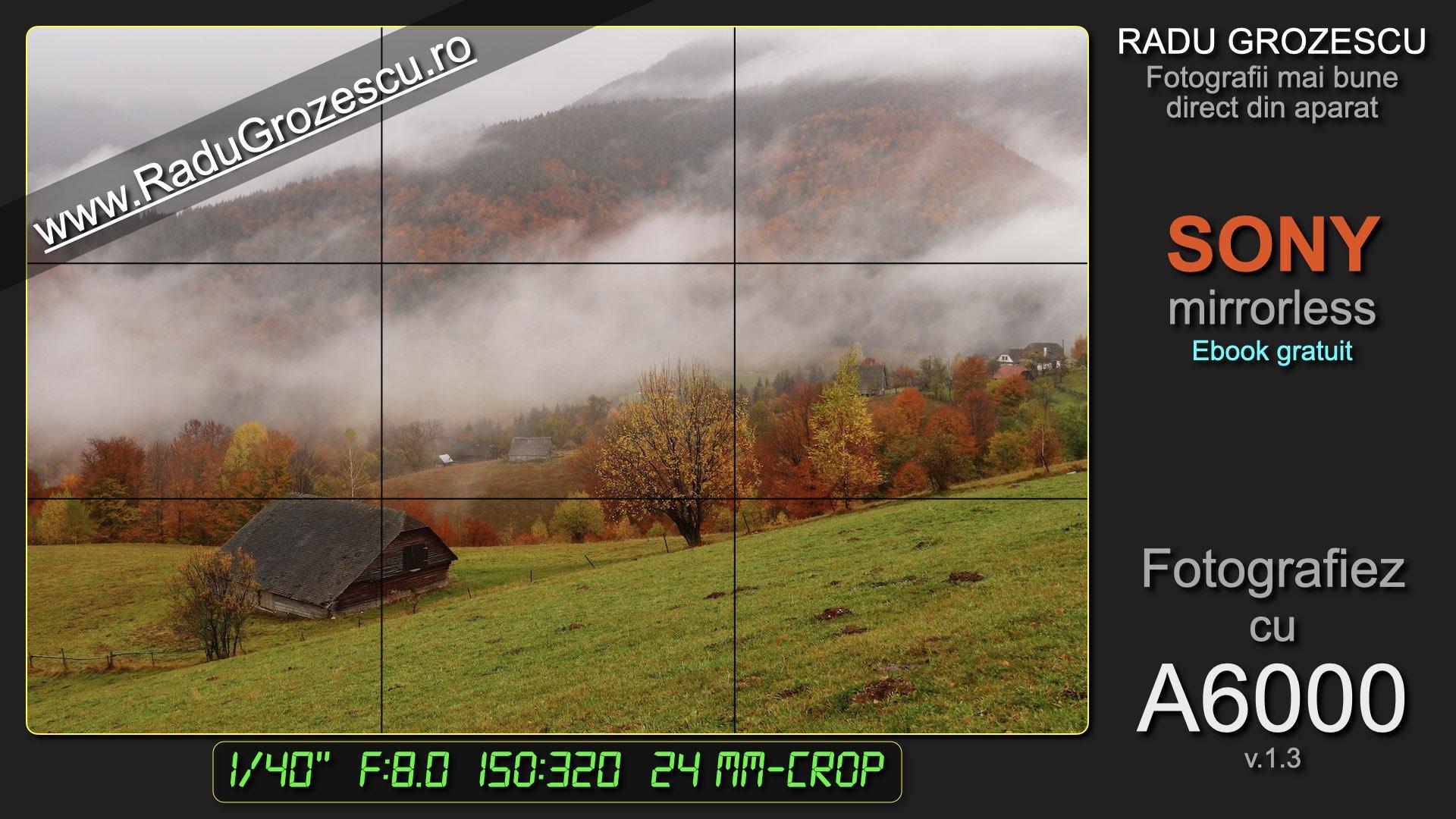 Fotografiez cu A6000 - Ebook foto varianta scurtă pentru Sony mirrorless