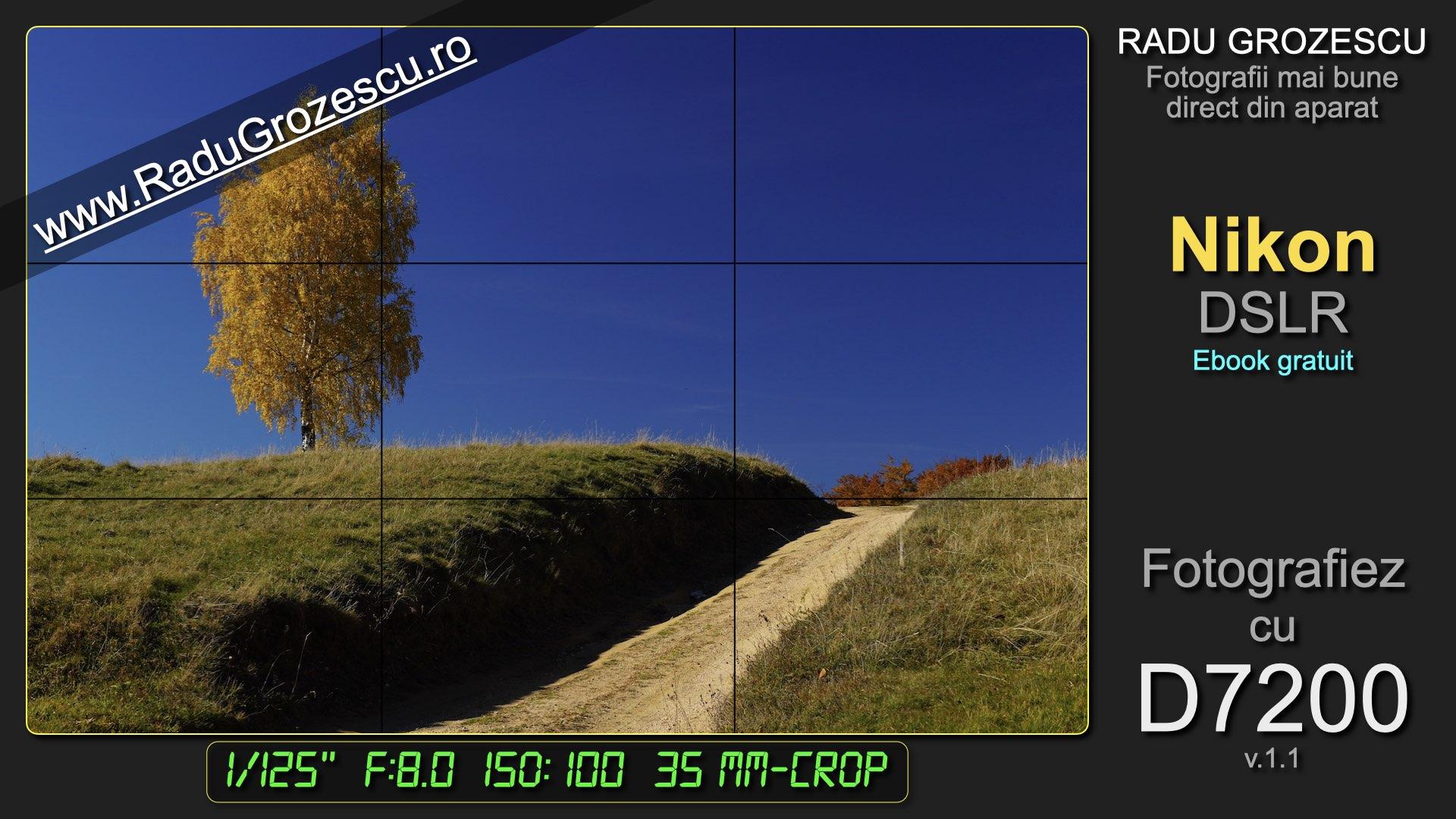 Ebook de fotografie - Fotografiez cu D7200 - varianta scurtă pentru Nikon DSLR